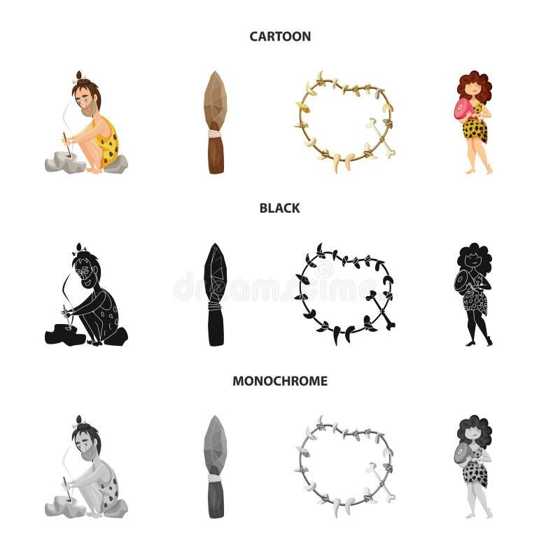 Illustration de vecteur de logo d'évolution et de préhistoire Placez de l'illustration courante de vecteur d'évolution et de déve illustration libre de droits