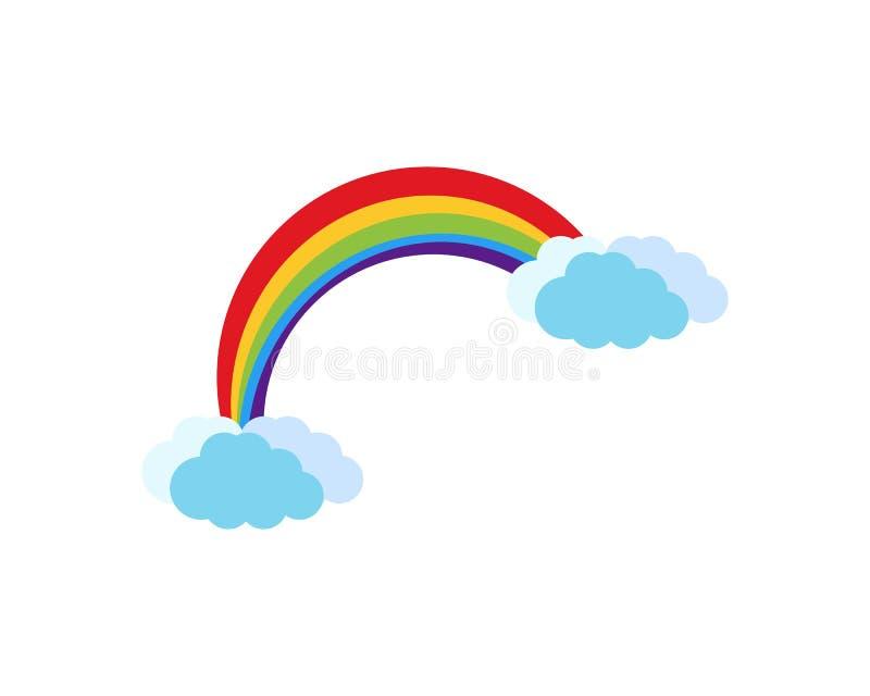 Illustration de vecteur de logo d'arc-en-ciel illustration de vecteur