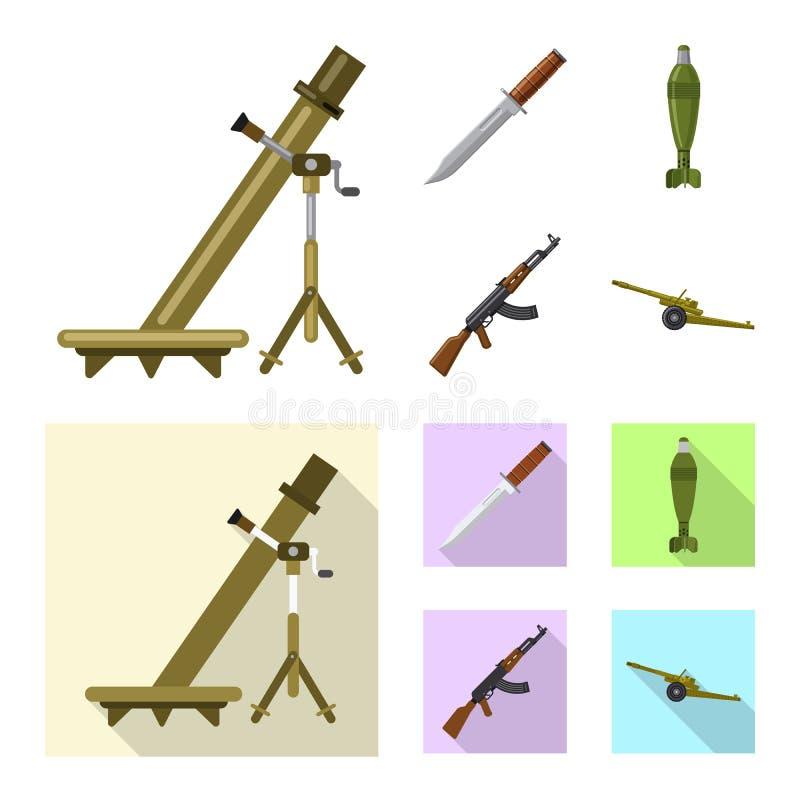 Illustration de vecteur de logo d'arme et d'arme à feu Collection d'icône de vecteur d'arme et d'armée pour des actions illustration de vecteur