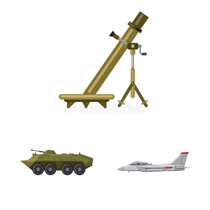 Illustration de vecteur de logo d'arme et d'arme à feu Collection d'icône de vecteur d'arme et d'armée pour des actions illustration libre de droits