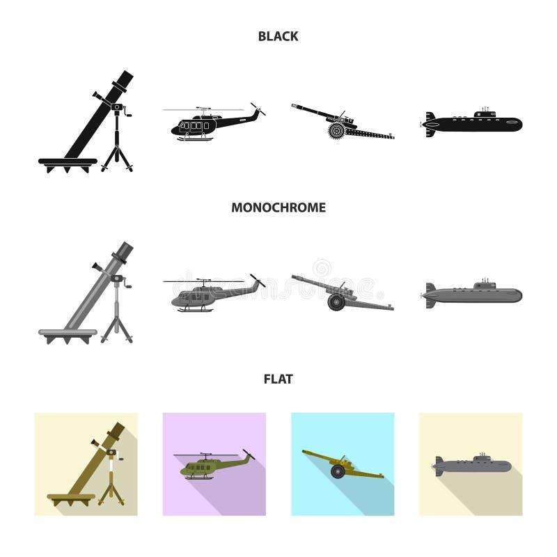 Illustration de vecteur de logo d'arme et d'arme à feu Collection de symbole boursier d'arme et d'armée pour le Web illustration de vecteur