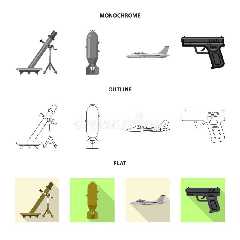 Illustration de vecteur de logo d'arme et d'arme à feu Ensemble d'illustration courante de vecteur d'arme et d'armée illustration de vecteur