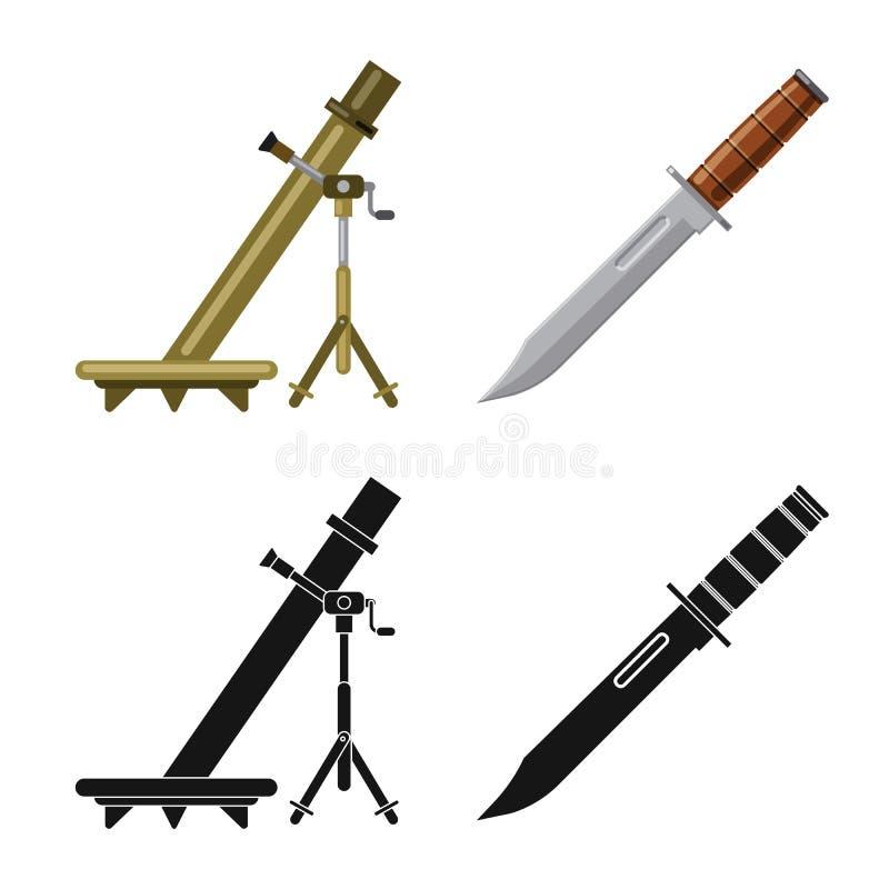 Illustration de vecteur de logo d'arme et d'arme à feu Ensemble d'illustration courante de vecteur d'arme et d'armée illustration libre de droits