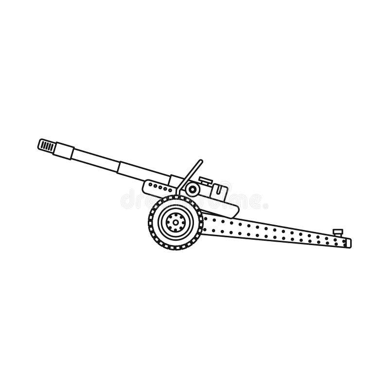 Illustration de vecteur de logo d'arme et d'arme à feu Ensemble d'icône de vecteur d'arme et d'armée pour des actions illustration stock