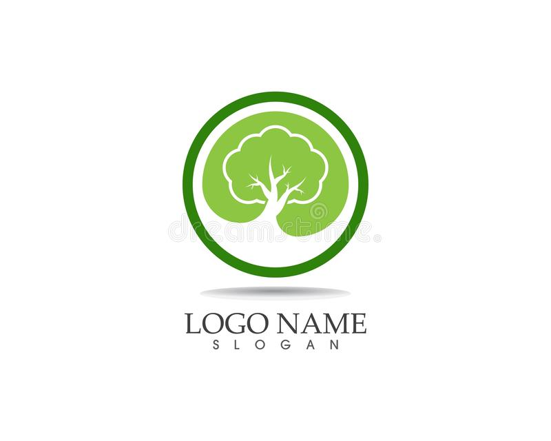 Illustration de vecteur de logo d'icône d'arbres illustration stock