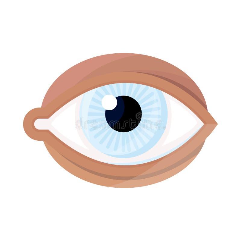 Illustration de vecteur de logo d'oeil et de globe oculaire Placez de l'oeil et de l'icône bleue de vecteur pour des actions illustration stock