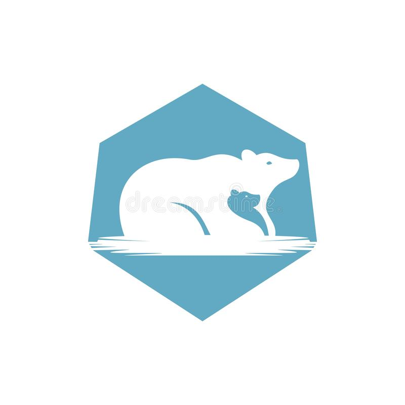 Illustration de vecteur de logo de famille d'ours illustration libre de droits