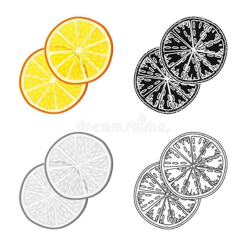 Illustration de vecteur de logo orange et sec Placez du symbole boursier orange et juteux pour le Web illustration stock