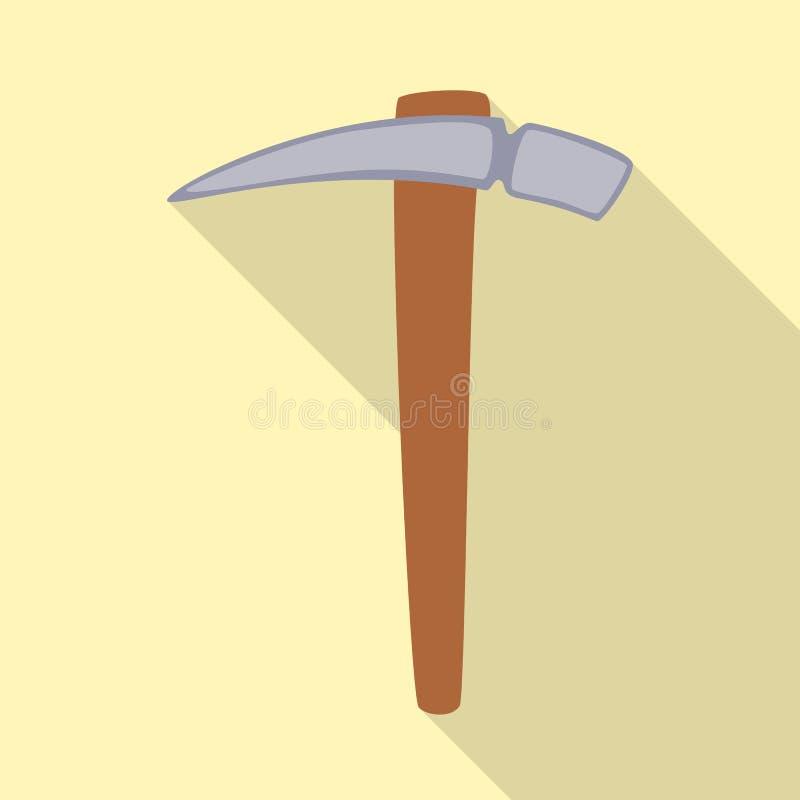 Illustration de vecteur de logo de pioche et de sélection Collection d'illustration de vecteur d'actions de pioche et d'outil illustration stock