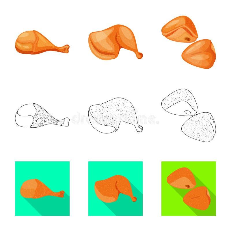 Illustration de vecteur de logo de produit et de volaille Collection de produit et d'illustration courante de vecteur d'agricultu illustration libre de droits