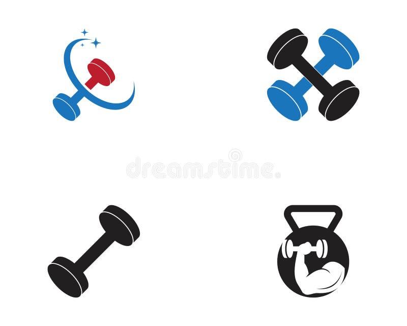 Illustration de vecteur de logo de sport de forme physique de gymnase illustration de vecteur