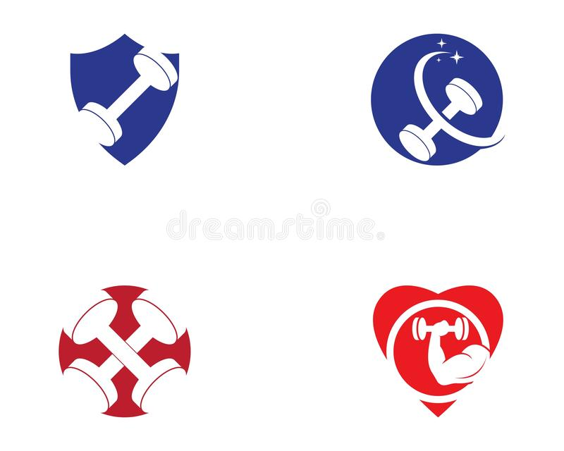 Illustration de vecteur de logo de sport de forme physique de gymnase illustration stock