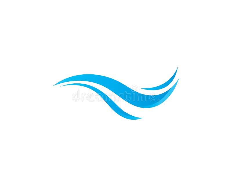 Illustration de vecteur de Logo Template d'ic?ne de vague d'eau illustration stock