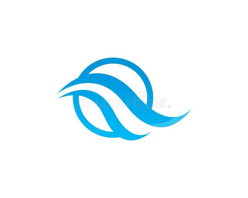Illustration de vecteur de Logo Template d'ic?ne de vague d'eau illustration de vecteur