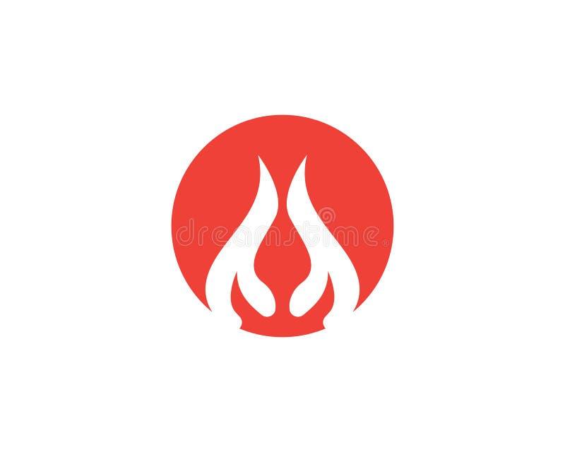 Illustration de vecteur de Logo Template de flamme du feu illustration de vecteur