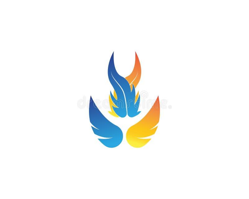 Illustration de vecteur de Logo Template de flamme du feu illustration libre de droits