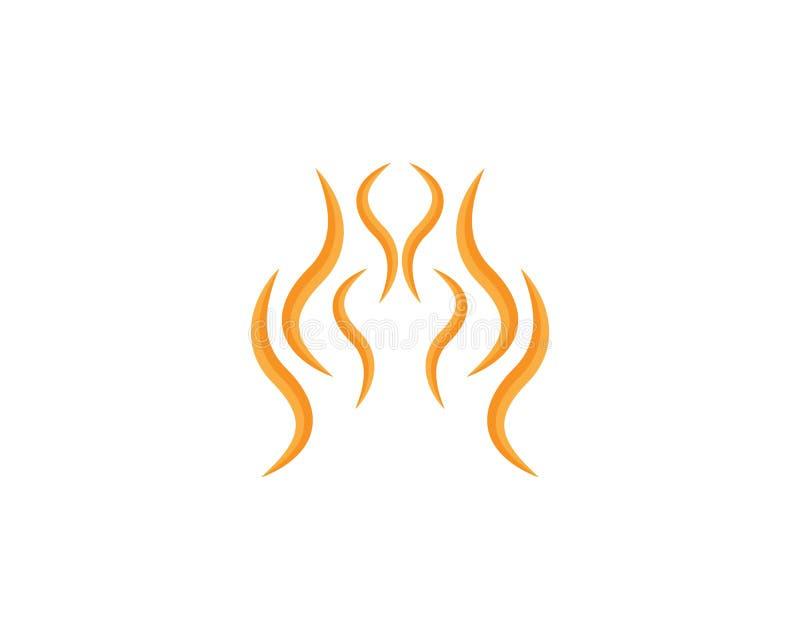Illustration de vecteur de Logo Template de flamme du feu illustration stock