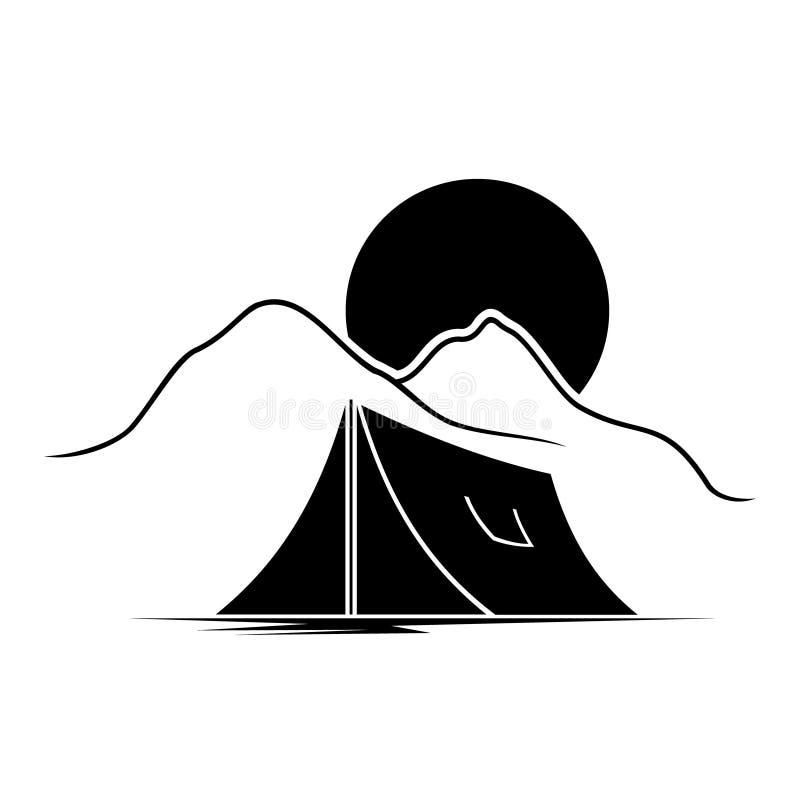 Illustration de vecteur de logo de terrain de camping image libre de droits