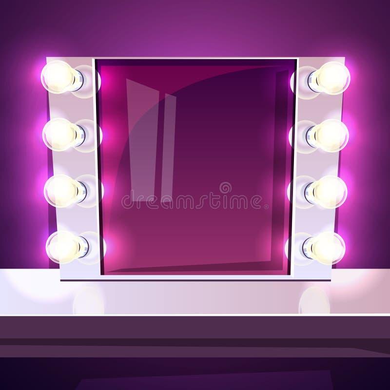 Miroir De Maquillage Avec L Illustration De Vecteur De
