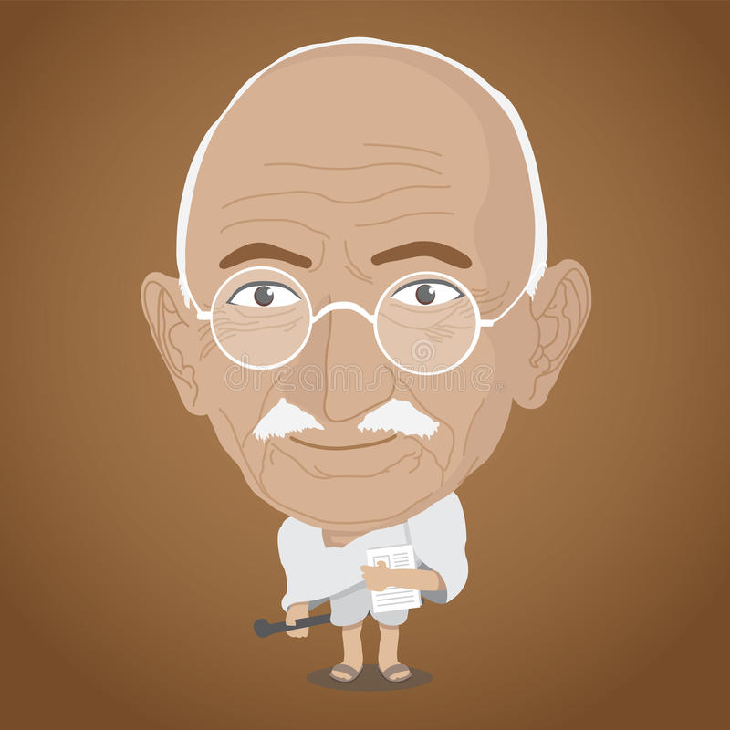 Illustration de vecteur - Mahatma Gandhi photo libre de droits