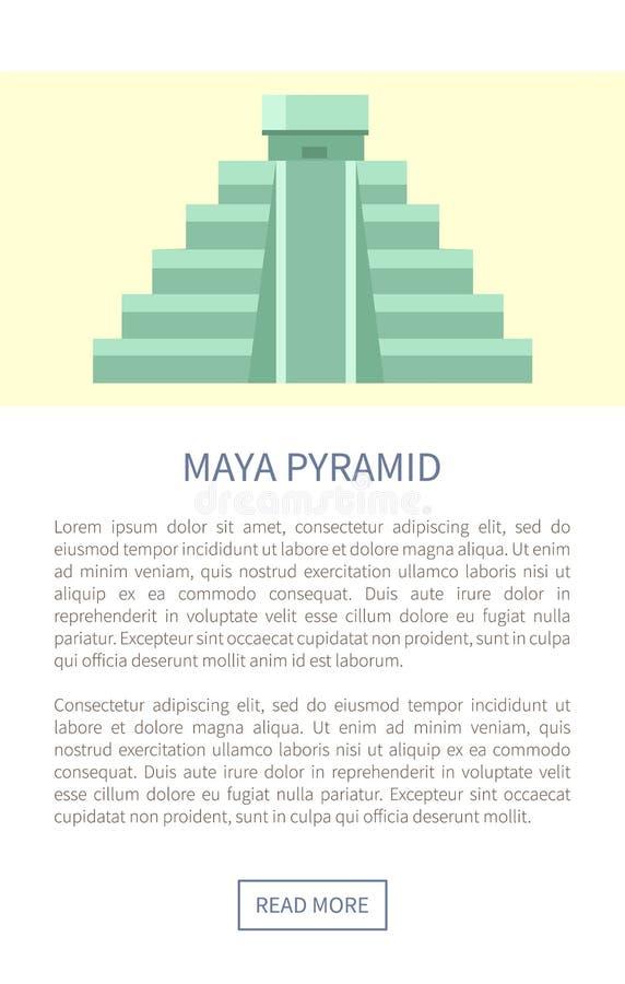 Illustration de vecteur de Maya Pyramid Web Page Text illustration libre de droits