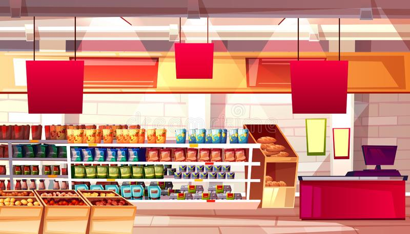 Illustration de vecteur de nourriture d'épicerie de supermarché illustration de vecteur