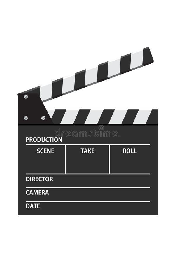 Illustration de vecteur de panneau de clapet de film Ic?ne visuelle Industrie de cin?ma illustration libre de droits