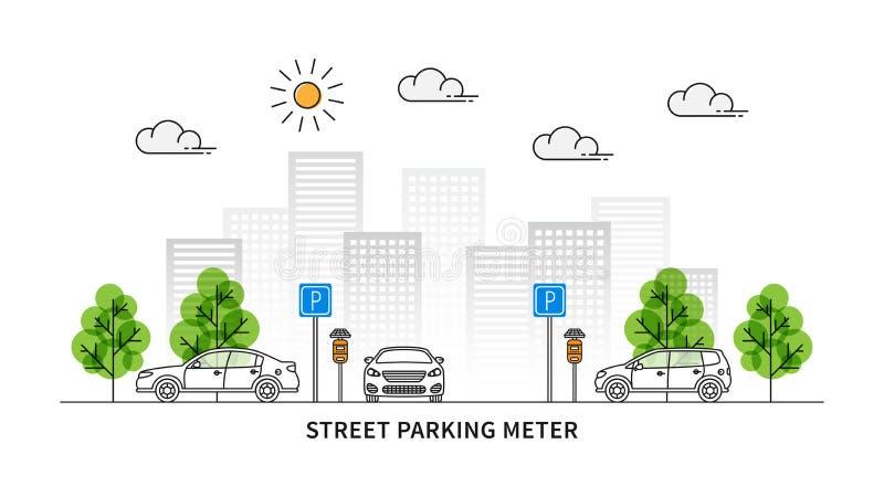 Illustration de vecteur de parcomètre de rue illustration de vecteur