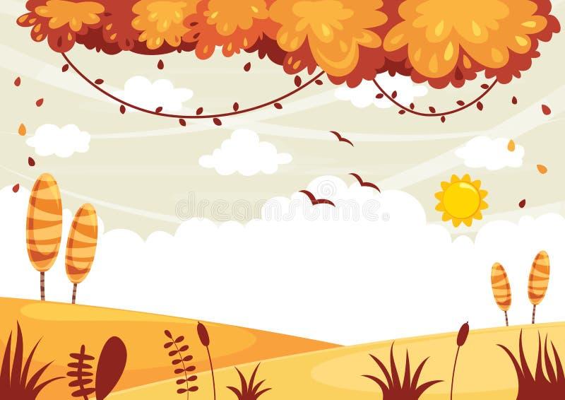 Illustration de vecteur de paysage coloré illustration stock