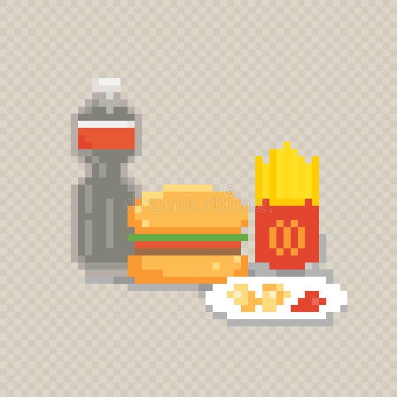 Art De Pixel De Hot Dog Prêt à Manger Pixelated Aliments De