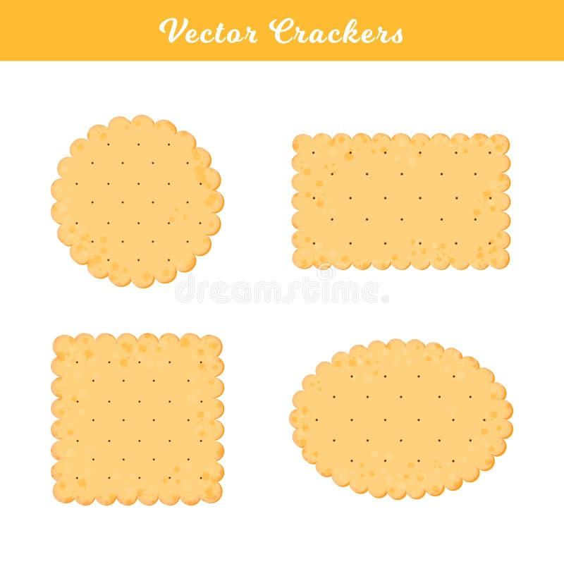 Illustration de vecteur Placez des biscuits de sant? Biscuit d'isolement pour le magasin de produit de conception, affiche illustration de vecteur