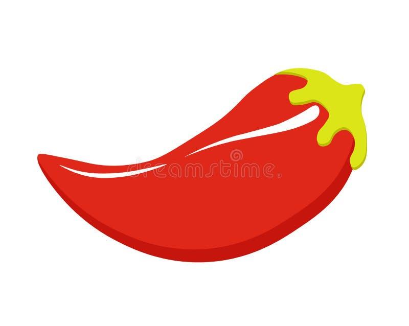 Illustration de vecteur de poivre de piment, légume épicé, nourriture mexicaine épicée Poivre d'un rouge ardent illustration de vecteur