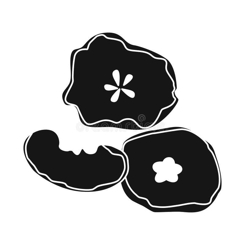 Illustration de vecteur de pomme et d'ic?ne s?che Collection de pomme et icône de vecteur de moitié pour des actions illustration stock