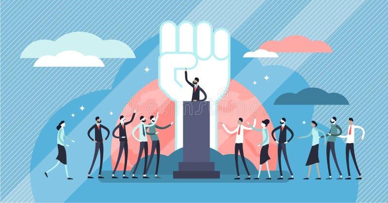 Illustration de vecteur de populisme Concept minuscule plat de personnes de manipulation de chef illustration de vecteur