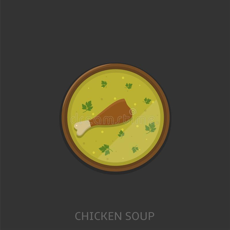 Illustration de vecteur de potage au poulet illustration de vecteur