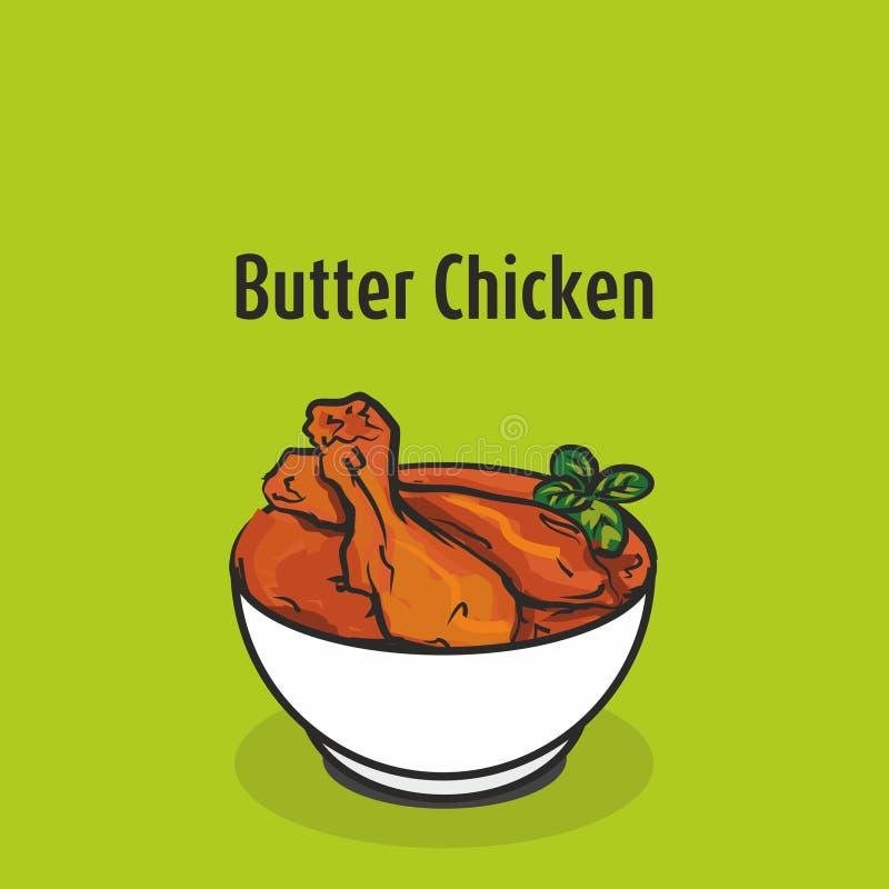 Illustration de vecteur de poulet de beurre illustration libre de droits