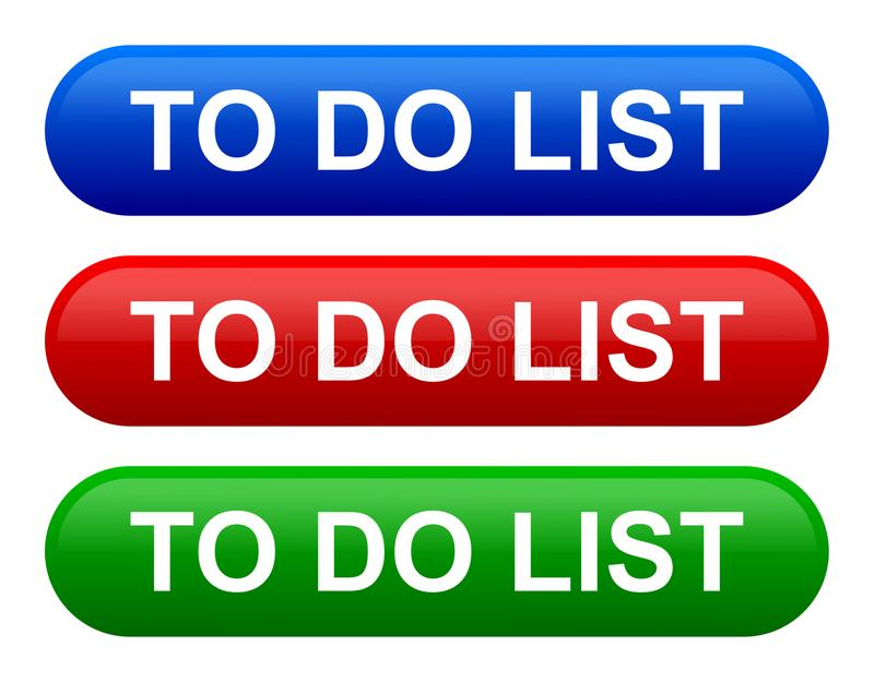 Illustration de vecteur pour faire le bouton de Web d'icône de liste illustration de vecteur