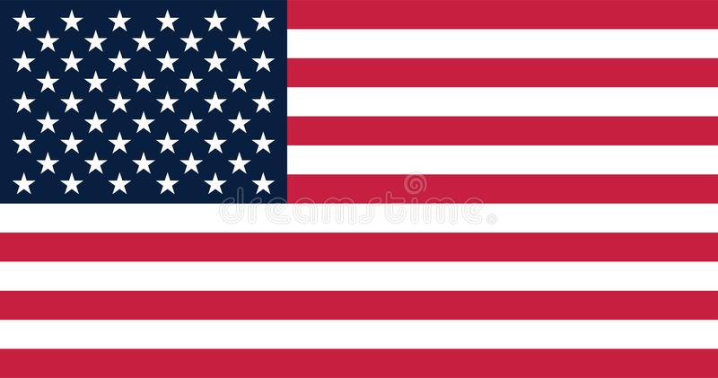 Illustration de vecteur pour le drapeau des Etats-Unis illustration de vecteur
