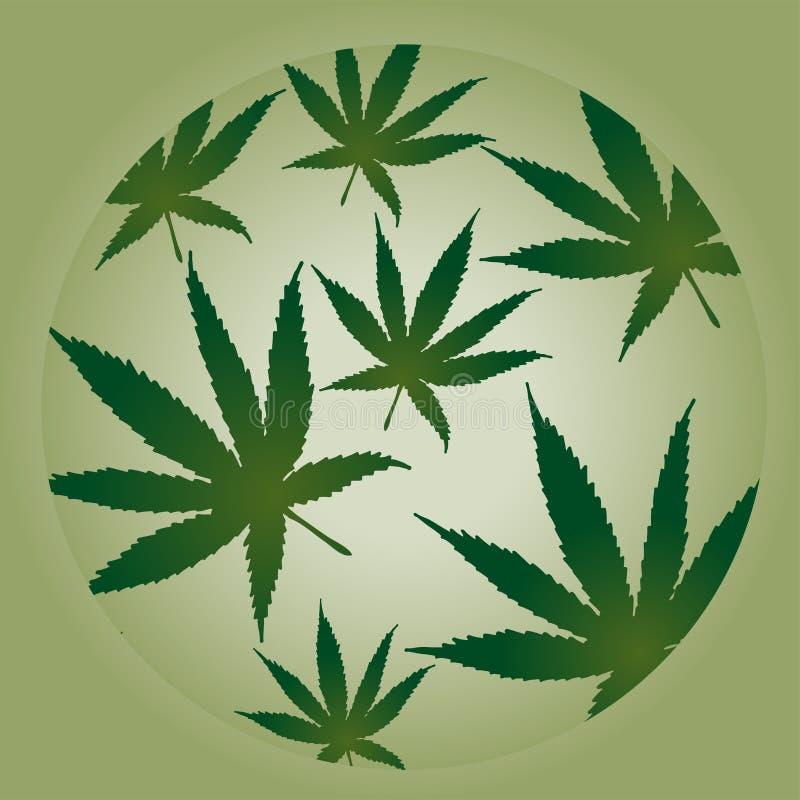 Illustration de vecteur pour le thème environnemental - feuilles de cannabis illustration de vecteur