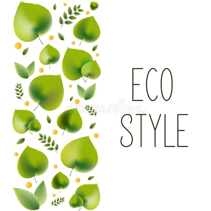 Illustration de vecteur pour le thème environnemental - style d'eco illustration stock