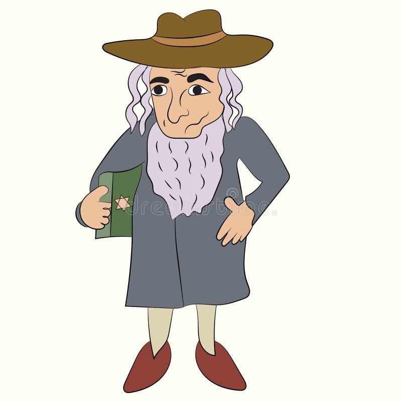 Illustration de vecteur de rabbin juif illustration libre de droits