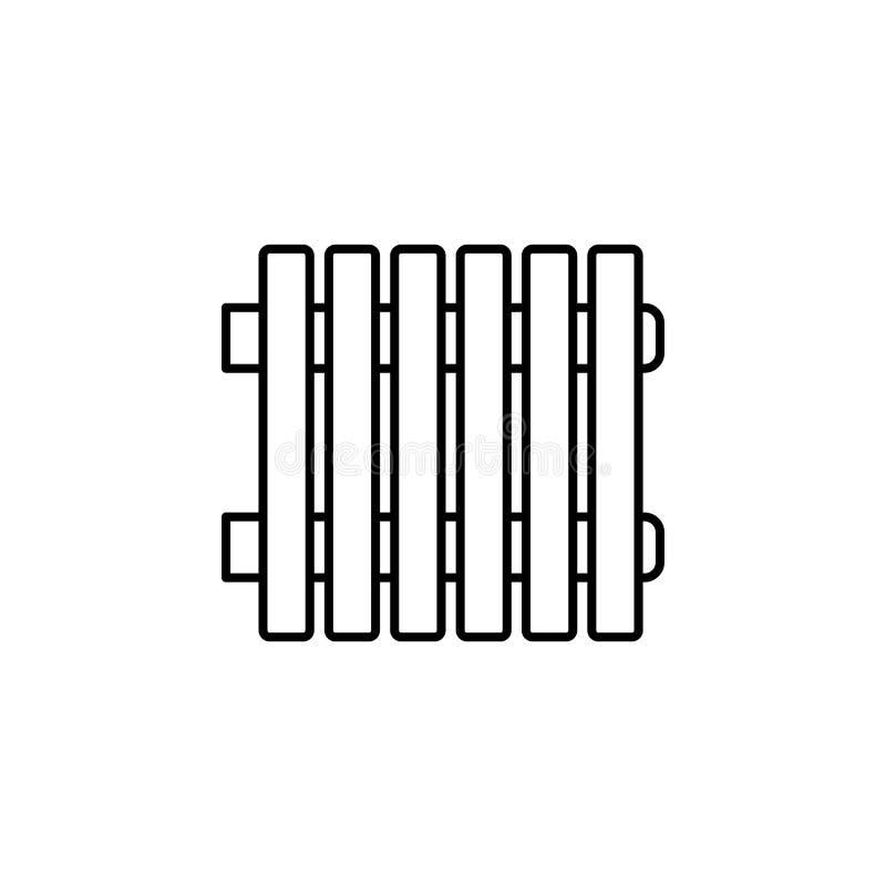Illustration de vecteur de radiateur Ligne icône de heate moderne de l'eau illustration libre de droits