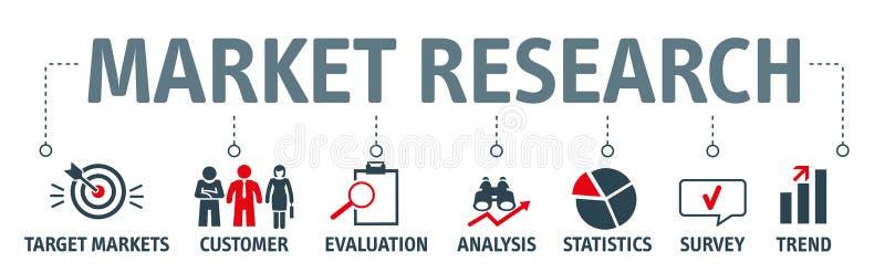 Illustration de vecteur de recherche de marché de bannière illustration libre de droits
