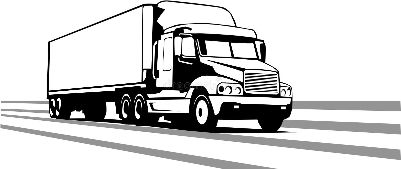Illustration de vecteur de remorque de tracteur illustration stock