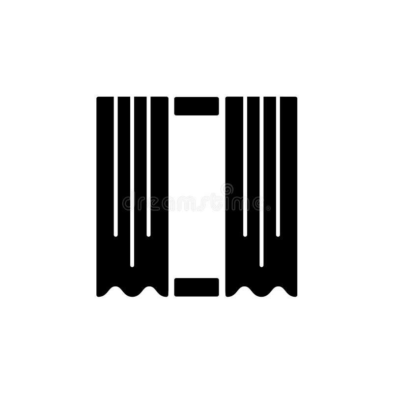 Illustration de vecteur de rideau droit en tissu Icône plate de victoire illustration de vecteur