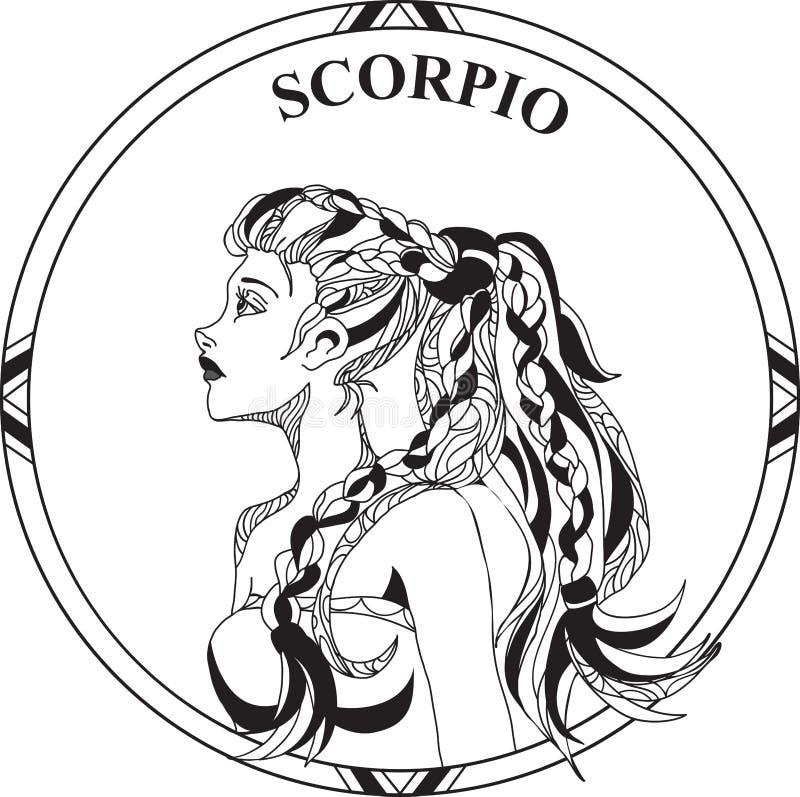 Illustration de vecteur de Scorpion de zodiaque de signe illustration de vecteur