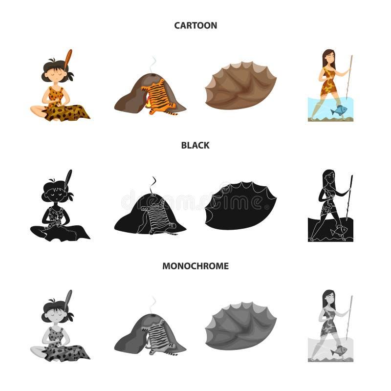 Illustration de vecteur de signe d'évolution et de préhistoire Collection de l'illustration courante de vecteur d'évolution et de illustration stock