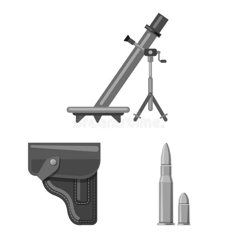Illustration de vecteur de signe d'arme et d'arme à feu Collection de symbole boursier d'arme et d'armée pour le Web illustration libre de droits