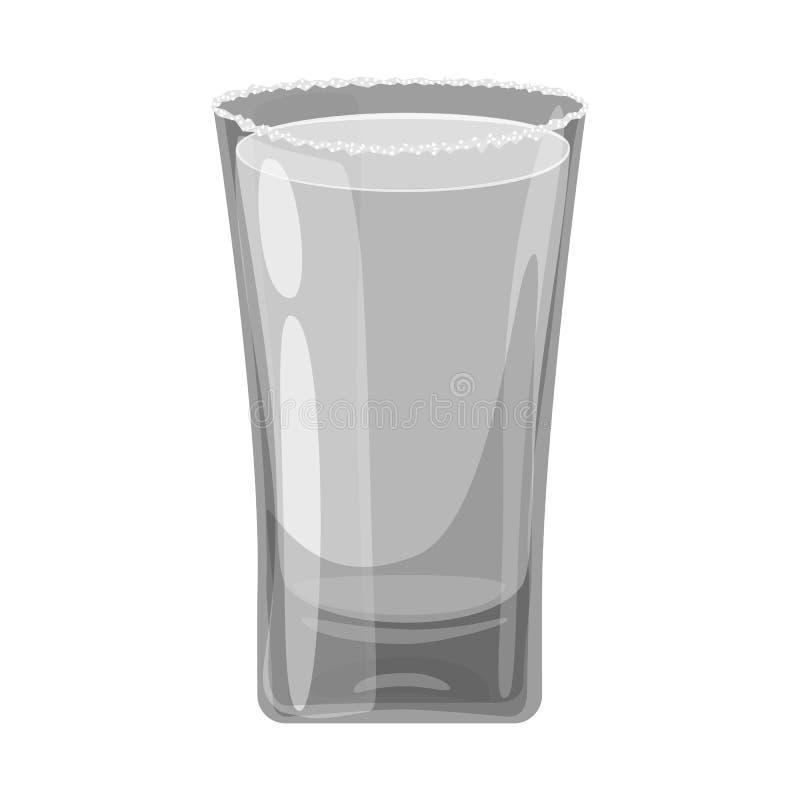 Illustration de vecteur de signe en verre et d'eau Placez de l'illustration courante en verre et claire de vecteur illustration libre de droits