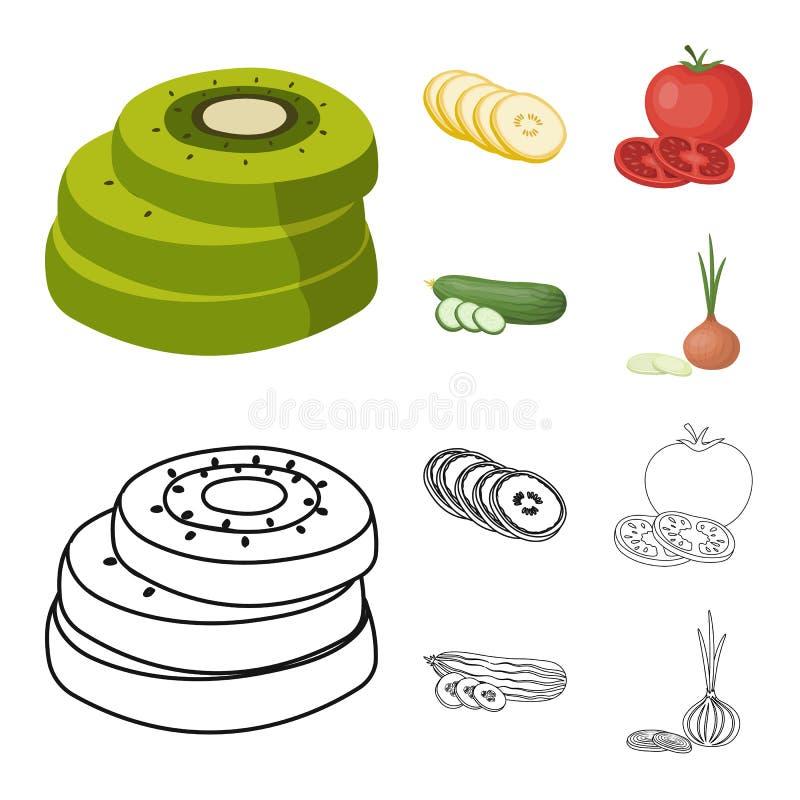 Illustration de vecteur de signe de l?gume et de fruit Placez de l'illustration de vecteur de bouillon de l?gume et de nourriture illustration de vecteur